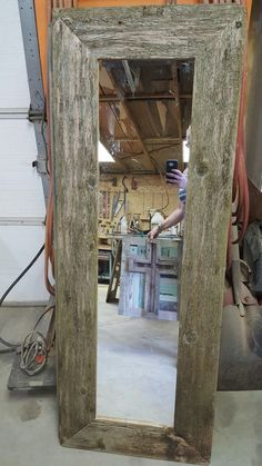 Full Length Barnwood Framed Mirror 45