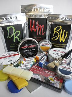 Encaustic Wax Paints and Encaustic Tools