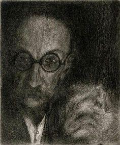 Bohuslav Reynek, Autoportrét s kočkou (self -portrait with a cat) Selfies, Art Gallery, World, Painters, Drawings, Artists, Cat Breeds, Art Museum, Sketches