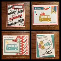 Car cards by Donna Cosgrove CTMH SOTM S1606 The Long Way Home