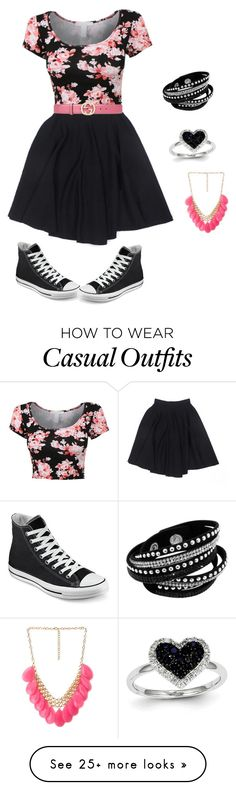 """""""Casual dress"""" by kbridget on Polyvore featuring Le Mont St. Michel, Converse, Gucci, Kevin Jewelers and Forever 21"""