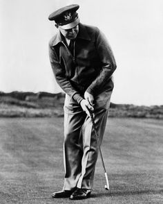 General Dwight Eisenhower playing golf at St. Andrews, Scotland, 1946. Courtesy CSU Archives/Everett Collection