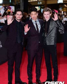 #New Dylan O'Brien, Ki Hong Lee and Thomas Sangster attending the South Korean #DeathCure premiere…""