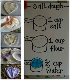 Salt dough handprints crafts for toddlers детские следы, отп Babysitting Activities, Toddler Activities, Cool Babysitting Ideas, Sensory Activities, 5 Year Old Activities, Childcare Activities, Indoor Activities For Kids, Toddler Learning, Summer Activities