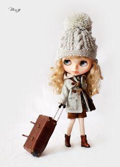 Yo extraño sombrero tejido a mano para Blythe por MissBlythe2012, $24.90