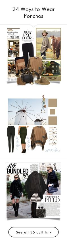 """24 Ways to Wear Ponchos"" by polyvore-editorial ❤ liked on Polyvore featuring ponchos, waystowear, H&M, Andrea, Gerry Weber, Paul Smith Black Label, Patrizia Pepe, Emilio Pucci, Burberry and Isabel Marant"