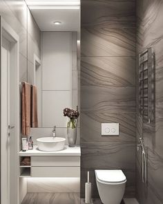 Modern Bathroom Trash Can Washroom Design, Bathroom Design Luxury, Modern Bathroom Design, Small Bathroom Storage, Bathroom Styling, Bathroom Organization, Bad Inspiration, Bathroom Inspiration, Interior Inspiration