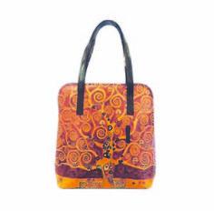 Ručne maľovaná kabelka 8192 inšpirovaná motívom Gustav Klimt - The tree of life