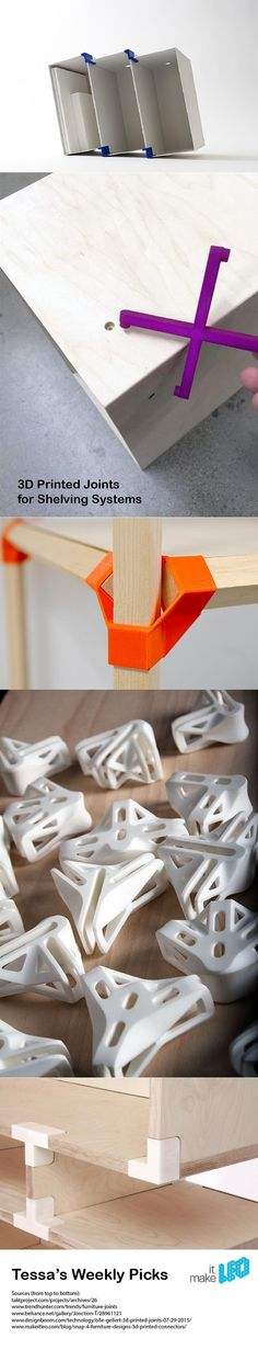 5 3D printed joints to create your own storage system Maybe something for 3D Printer Chat?