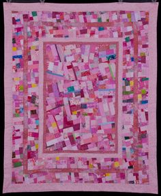 Pink Original Design Art Quilt with Inlay by ColorQuiltsbyCarolyn