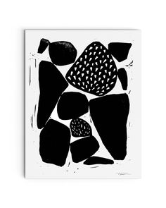 Modern Organic Forms Block Print || #art #arte #design #wallart #artprint