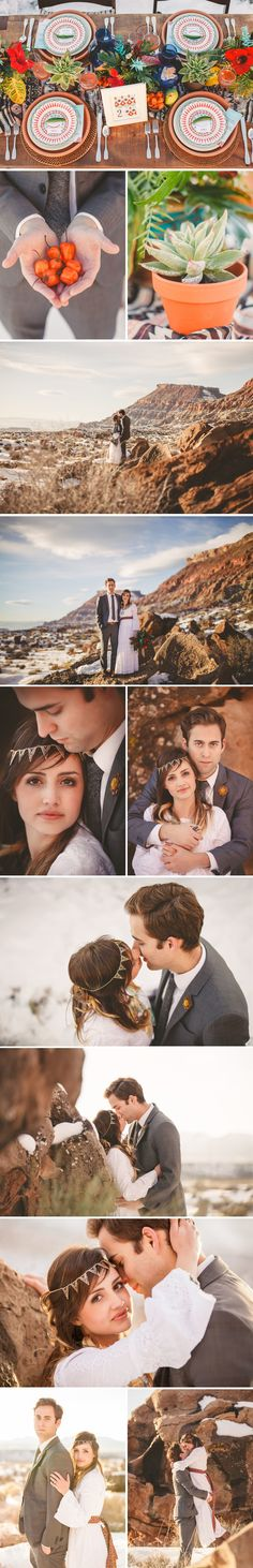 Styled Wedding shoot in beautiful southern Utah with an Aztec theme!