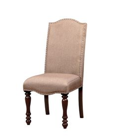 Furniture Of America Norelli 2Pc Nailhead Trim Dinner Chair Antique Cherry