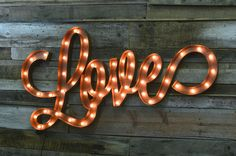 a little retro a little country and all so very perfect for your big day. Love marquee signs