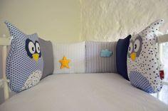 Tour de lit bébé chouettes, étoiles et nuage : Accessoires & décorations par ShanouK, les petites mains...