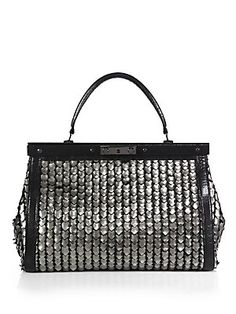 Tory Burch Large Metallic Doctor's Bag need to find something like this but much more affordable.