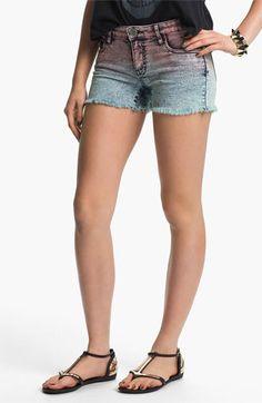See Thru Soul Dip Dye Acid Wash Denim Shorts (Juniors) available at Nordstrom