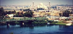 Photo from Mosul shows the Old Bridge at Tigris river and the Saddam Grand Mosque.