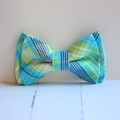 The Beau aqua and lime preppy plaid double by thebelleandthebeau, $22.00