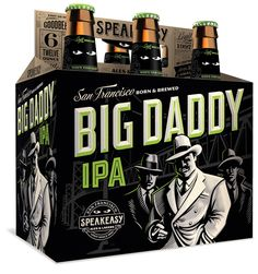 Speakeasy Ales & Lagers Big Daddy IPA 12oz. 6-pack - designed by Emrich Office
