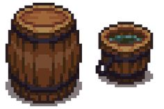 Examples of object lighting via a barrel and a bucket