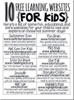 10 free learning websites for kids