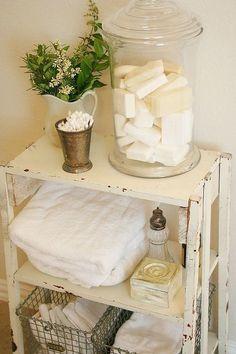 making toiletries part of your bathroom decor, bathroom ideas, cleaning tips, home decor, Master Bathroomhttp farmhouseporch blogspot com