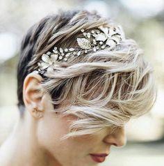 fryzura ślubna krótkie włosy