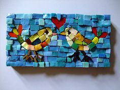 smalti mosaic lovebirds by smilisazi