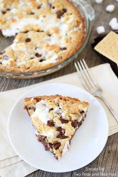 S'mores Pie Recipe on twopeasandtheirpod.com S'mores heaven! #recipe #dessert
