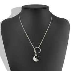 Silver plated yin yang lariat necklace New. Unique silver plated yin yang lariat necklace. Thank you for visiting my closet, please let me know if you have any questions. I offer great discounts on bundles  Boutique Jewelry Necklaces