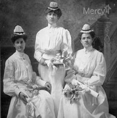 These lovely #Mercy nurses were all dressed up for their Nursing School Graduation in Joplin in 1905. #throwbackthursday #tbt