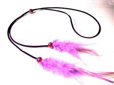 Manualidades Abalorios - Collar con plumas