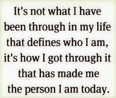 My past does not define me