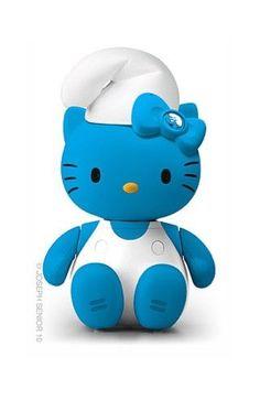 Hello Kitty Smurf: