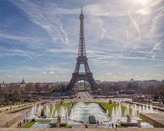 Tour Effeil prise depuis l'Esplanade du Trocadéro. France, Paris Skyline, Tours, Photography, Travel, Beautiful Images, Fotografie, Photograph, Trips