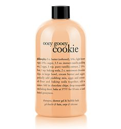 Newest shower gel/bubble bath purchase. It makes me want to bake chocolate chip cookies!