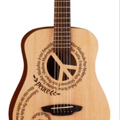 New for 2011 from Luna Guitars A wish for Peace, design by Alex Morgan.
