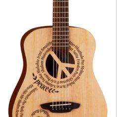 """Luna """"peace"""" guitar"""
