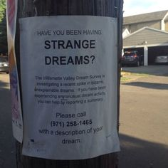 """kanye—asada: "" magiciabromeliada: "" Saw this in North Portland this afternoon. "" confirmed I live in Portland and have been having weird dreams all week "" Probably all the pot. Shy Boy, Just In Case, Just For You, The Wicked The Divine, Familia Uzumaki, Between Two Worlds, Southern Gothic, Night Vale, Weird Dreams"