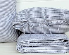 gathered stripes on quilt - Google Search