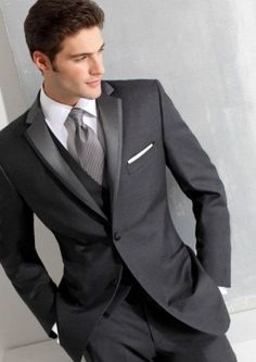 (MTM) Slim Fit Gray Tuxedo – RDevine Fashion (Wedding & Bridal) Mens Clothing Ideas – Stylish Mens Clothes That Any Guy Would Love Source by elpichy clothing styles Slim Fit Tuxedo, Tuxedo For Men, Black Tuxedo, Black Tie, Groomsmen Suits, Groom Attire, Groomsman Attire, Mens Fashion Suits, Mens Suits