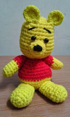 Free Crochet Patterns: Winnie the Pooh Small Amigurumi Free Pattern