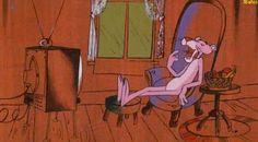 ¿Algo interesante en la tele? La Pantera Rosa Classic Cartoon Characters, Classic Cartoons, 90s Cartoons, Disney Cartoons, Rosas Gif, Panthères Roses, Pink Panter, Daffy Duck, Vintage Cartoon