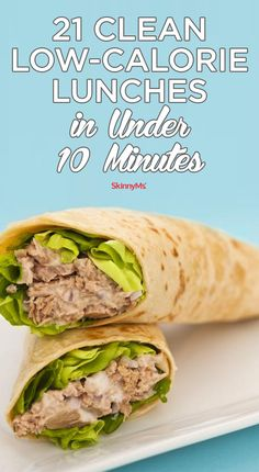 These 21 Clean Low-Calorie Lunches in Under 10 Minutes are so good that you won't even miss your favorite takeout lunch spot! #cleaneats #healthy #recipe