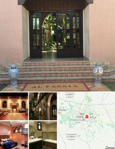 L'hôtel est situé au niveau du km 9 sur la route d'Ouarzazate. Entourée d'oliviers et de palmiers, cette propriété à l'abri des regards est située à 20 minutes en voiture du centre de Marrakech. Compter 6 km pour rejoindre l'aéroport de Marrakech - Menara.