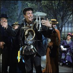Dick Van Dyke's one man band outfit from Mary Poppins Mary Poppins Movie, Mary Poppins And Bert, Mary Poppins 1964, Walt Disney, Disney Love, Disney Pixar, Disney Films, Disney Characters, My Fair Lady
