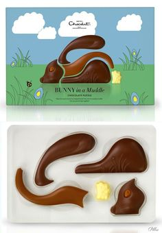 Hotel Chocolate Easter #chocolate #packaging #bunny
