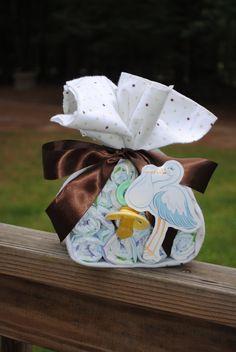 Stork Bundle   - Baby Boy or Girl -Gender Neutral -  Baby Shower gift /Centerpiece. $10.00, via Etsy.