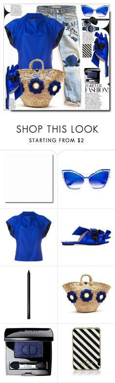 """""""Casual 💙"""" by dragananovcic ❤ liked on Polyvore featuring Dita, Monique Lhuillier, Haider Ackermann, N°21, Muzungu Sisters, Christian Dior and Kate Spade"""